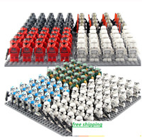 21 Pcs Minifigures lego MOC - STAR WAR Stormtrooper Sith Jedie Knight & weapons