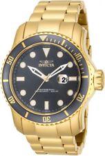 New Mens Invicta Pro Diver Grey Dial Gold Tone Bracelet Watch