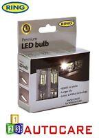Ring 12v W5W 501 Ice White 6000K LED Bulbs x2 CANbus Error Free Premium