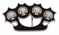 Skull Belt Buckle Gothic New Brass Knuckle Costume Metal Fashion Mens Skeleton