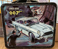 James Bond Secret Agent 007 1966 Aladdin 3D Metal Lunchbox