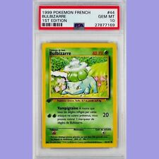 Pokemon 1st Edition Bulbasaur(Bulbizarre)44/102 French Base Set PSA 10 Gem Mint