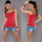 New Sexy Ladies Singlet Tank Top Size S/M Size 6 8 10 - Red