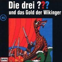 """DIE DREI ??? """"UND DAS GOLD DER WIKINGER (FOLGE 45)"""" CD HÖRBUCH NEUWARE"""