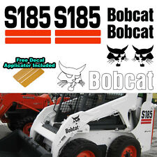 Bobcat S185 Skid Steer Set Vinyl Decal Sticker 7 PC SET + FREE DECAL APPLICATOR