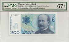 P-48a 1994 200 Kroner, Norway, Norges Bank,  PMG 67EPQ Finest Known