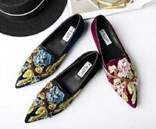 Velvet Floral Shoes for Women