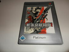PlayStation 2  PS 2  Metal Gear Solid 2: Sons of Liberty [Platinum]