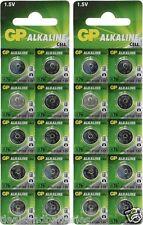 GP A76 LR44 AG13 Alkaline Cell 1.5V Alkaline Button Cell Battery x 20 Batteries
