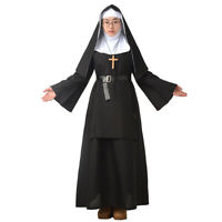 Women's Nun Dress Halloween Party Cosplay Costume