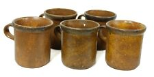 Vintage 1412 McCoy USA Brown Mesa Coffee Mug Set of 5