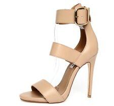 Steve Madden Mysterii Natural Nude Womens Ankle Strap Sandal Heels Sz 8M 4951