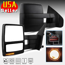 for 2007-2014 Ford F150 Towing Mirrors Power Heated Puddle Lights Turn Signals