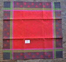 Le Jacquard Francais Fleurs de Givre Red Christmas Napkins - Set of 4