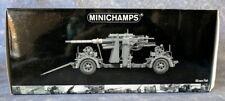 New in Box MINICHAMPS - German 88mm Flak 36/37 Anti-Aircraft Gun & Trailer~1:35