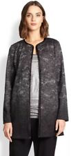 2X $488 EILEEN FISHER BLACK FELTED WOOL SPRINKLE ROUND NECK JACKET NWT