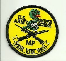 Army MP Military Police Sniper School PATCH