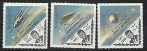 Yemen Collection of John F Kennedy Memorial / Space Exploration MNH JK60
