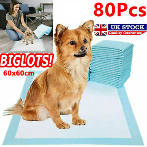 80X HEAVY DUTY DOG PUPPY LARGE TRAINING WEE WEE PADS FLOOR TOILET MAT 60 x 60cm