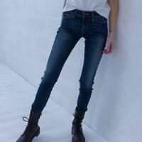 Levi's 711 Skinny Blau Damen Jeans DE 32 / W25 L30