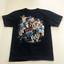 2012 WWE Youth T-Shirt John Cena Sin Cara Rey Mysterio Superstars Size Large