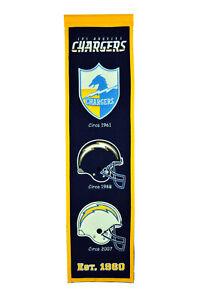 NFL Los Angeles Chargers Heritage Pennant Banner Winning Streak 31 1/2x7 7/8in