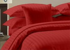 Attached Waterbed Sheet Set Red Striped Wrinkle Free Soft Waterbed Sheet