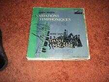 Cesar Franck Variations Symphoniques VERY RARE French copy  LP VG / VG