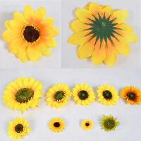 Yellow  Silk Sunflower Heads Fake Flores Artificial Flower Wedding Decoration