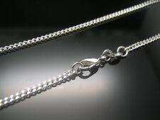 Solid 925 Sterling Silver cordolo Collana catena gioielli 18 inch ciondolo donna