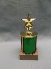 Star trophy award wood base green column