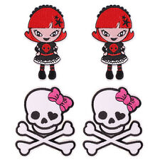 4pcs Monster High Fabric Embroidered Iron/Sew On Patch for kids Clothes
