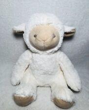 "Lamb plush Soft Stuffed Animal Lovey 10"" Sitting No Tag White Sheep Security"