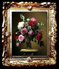 FLORAL  DOLLS HOUSE / ROOM BOX MINIATURE PICTURE FLORAL /WALL ART- No04433