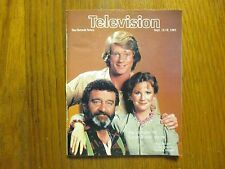 Sept, 1982 Detroit News Television Mag(LITTLE HOUSE ON THE PRAIRIE/VICTOR FRENCH