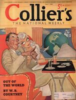 1940 Colliers Cover only June 1 Lovers flying around the world on Pan AM
