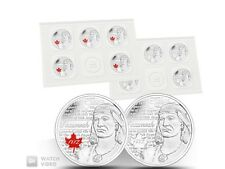 2012 Canada Tecumseh 25 cent Circulation 10-pack coin coloured quarter 1812 war