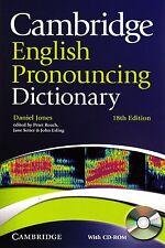 Cambridge ENGLISH PRONOUNCING DICTIONARY w CD-ROM 18th Edition Daniel Jones NEW