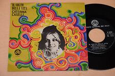 """CATERINA CASELLI 7"""" 45 NO LP IL VOLTO DELLA VITA 1°ST ORIG 1968 EX"""