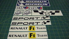Renaultsport F1 Team Clio Megane Twingo stickers autocollants graphiques Kit RENAULT
