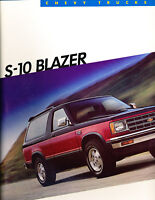 1986 Chevrolet Chevy S-10 Blazer Sales Brochure Book