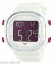 NEW ADIDAS UNISEX SEOUL CANDY WHITE,PINK DIGITAL SQUARE DIAL WATCH-ADH2076