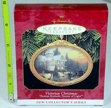 Ceramic - Hallmark Keepsake Ornament - Victorian Christmas Thomas Kinkade - 1997