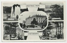 Postcard, Greetings from Chatsworth House Multiview