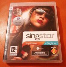 Juego SingStar Pop Edición SONY PS3 condición encantadora PLAYSTATION 3 12+