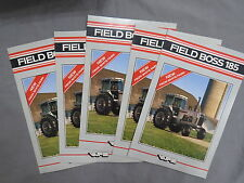 Vintage White Farm Equipment Field Boss 185 TRACTOR Sales Brochure LOT of 5