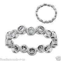 1.00ct Bezel Set Round Diamonds Full Eternity Wedding Ring ,Gold & Platinum