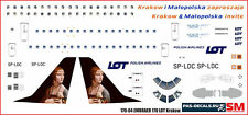 1/144 PAS-DECALS.Hasegawa. laser decal Embraer E-170 Lot Krakow