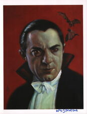 William Stout SIGNED 8 1/2x11 Universal Monsters Art Print ~ Bela Lugosi Dracula