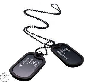 Halskette Herrenkette mit Anhänger Dog Tag ID ARMY Kette Schmuck Erkennungsmarke